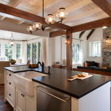 Rustic Kitchen by Morgan-Keefe Builders, Inc.