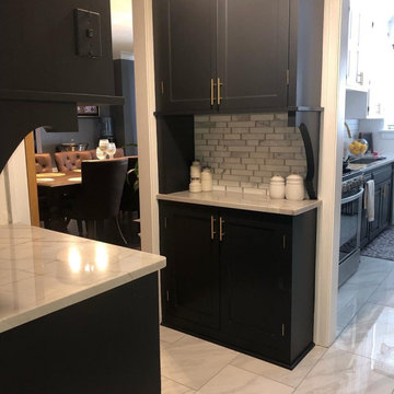 Contemporary Kitchen and Butler Pantry