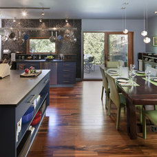 Eclectic Kitchen by Shelterbelt Architecture