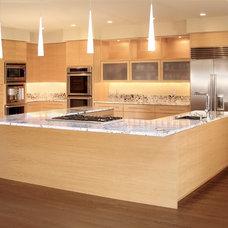 Contemporary Kitchen by Hefner Woodworking + Sorkin Design