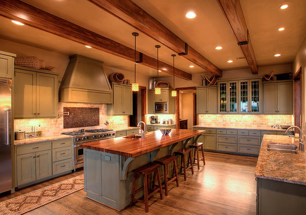 Rustic Kitchen by Geschke Group Architecture