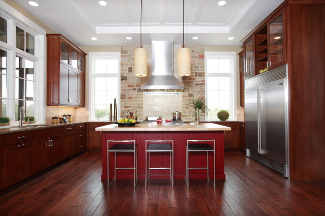 Eclectic Kitchen by Laura Burton Interiors