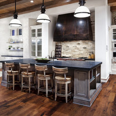 Rustic Kitchen by JAUREGUI Architecture Interiors Construction