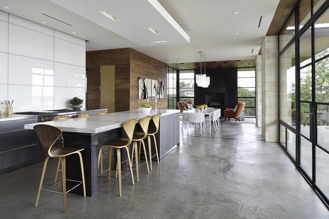 Modern Kitchen by Cornerstone Architects