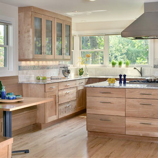 Natural Wood Cabinets Houzz