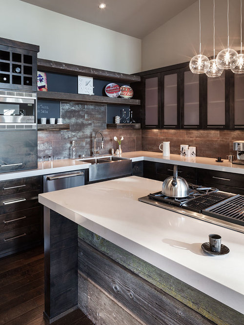 SaveEmail - Reclaimed Wood Kitchen Cabinets Houzz