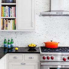 Transitional Kitchen by Sean Litchfield Photography