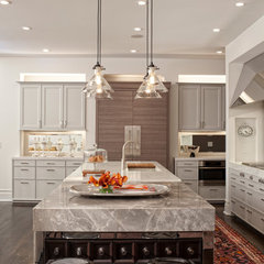 eclectic kitchen by Buckingham Interiors + Design LLC