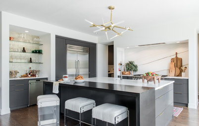 Kitchen of the Week: A Metal-and-Marble Modern Marvel