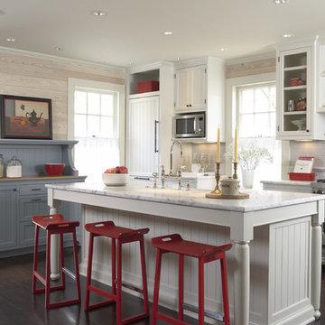 Historic cottage renovation kitchen