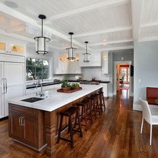 Mediterranean Kitchen by Allwood Construction Inc