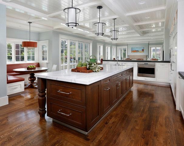 Mediterranean Kitchen by Allwood Construction Inc