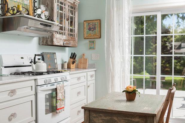 eine shabby k che im landhausstil nach dem umbau. Black Bedroom Furniture Sets. Home Design Ideas
