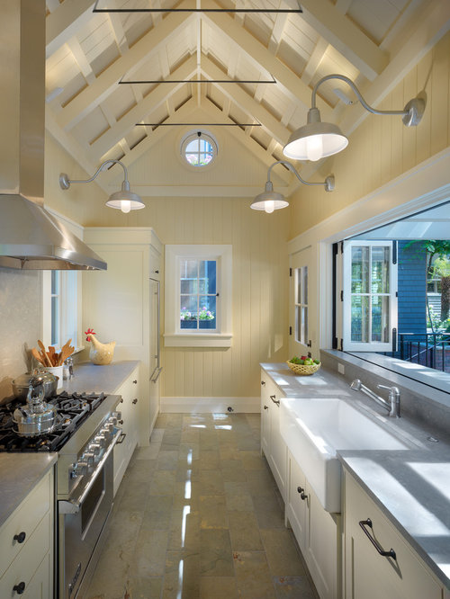 Galley kitchen home design ideas renovations photos for Traditional galley kitchens