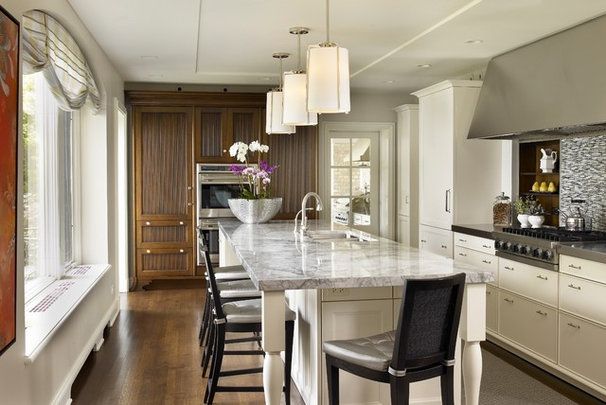 Transitional Kitchen by Morgante Wilson Architects