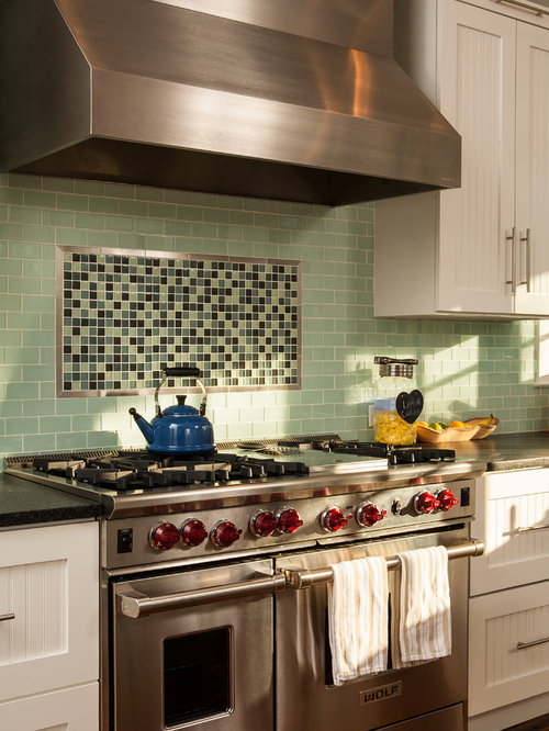Accent Tile Above Range Houzz