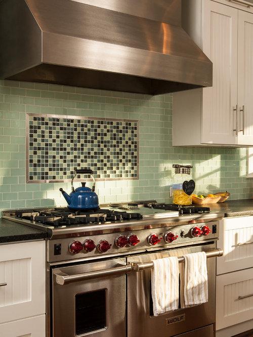 Inspiration For A Craftsman Kitchen Remodel In Atlanta With Subway Tile  Backsplash, Stainless Steel Appliances