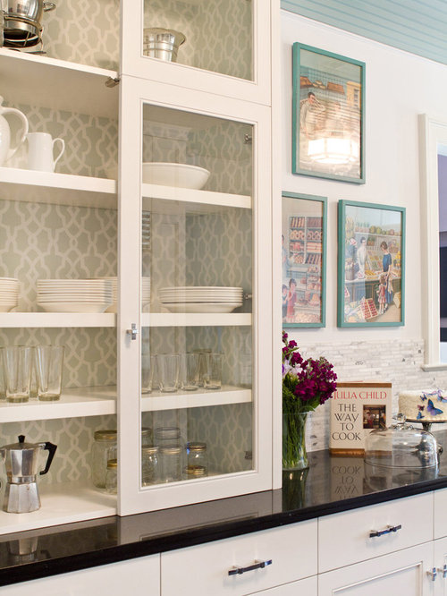 Wallpaper Cabinets Ideas, Pictures, Remodel and Decor