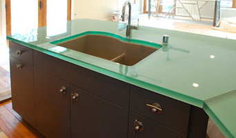 Hite Ave Louisville Residence Natural Blue Green Glass Kitchen Countertop