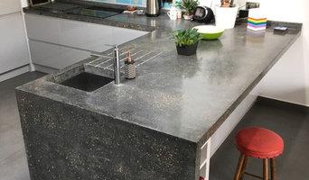 Hither Green Seamless Polished Concrete Worktop / Endpanel / backsplash.