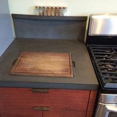 Rustic Kitchen by Concrete Craftsman