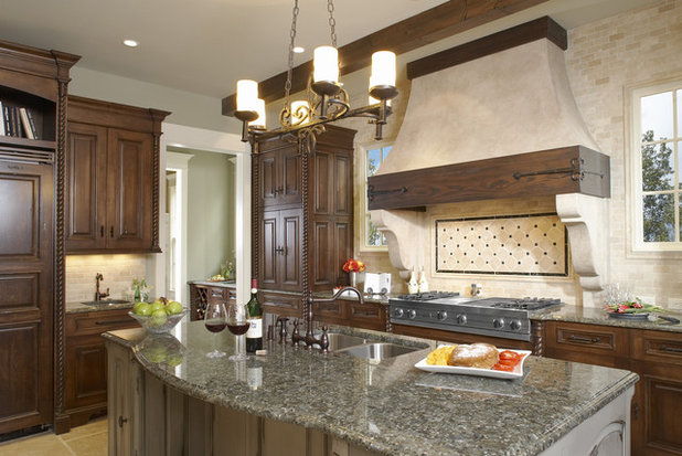 9 elements of spanish revival kitchens for Kitchen cabinets in spanish