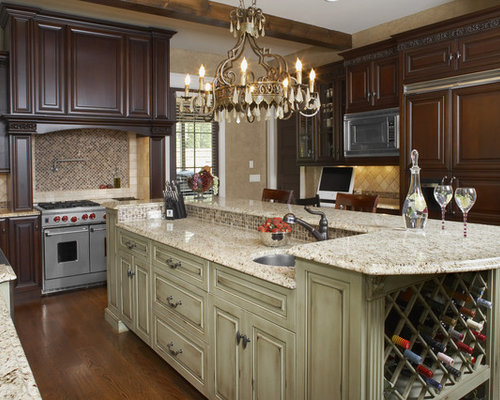 Inspiration For A Rustic Kitchen Remodel In Atlanta With Paneled  Appliances, Raised Panel Cabinets