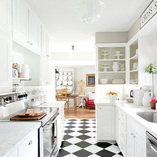 Black And White Checker Floor Kitchen