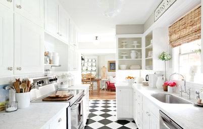 Create a Timeless Kitchen Look With Checkered Tiles