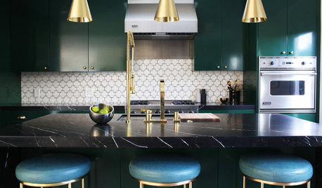 Kitchen Trend: These Jewel-Toned Cabinets Really Shine