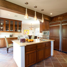 Transitional Kitchen by Laura U, Inc.