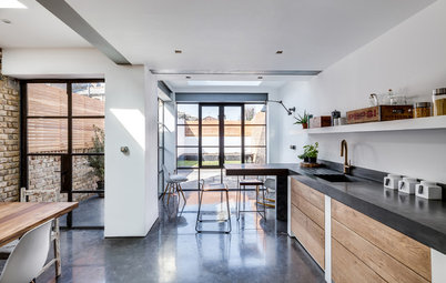 Kitchen Tour: Polished Concrete and Reclaimed Finds in a London Kitchen