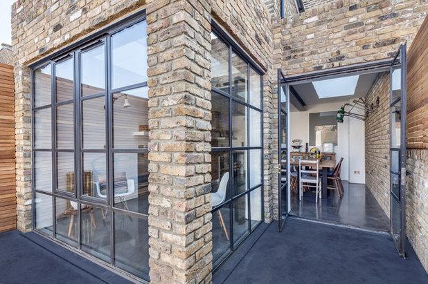 Backstein und Beton – eine moderne Industrial-Küche in East London