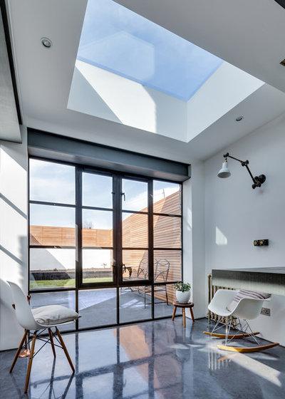 backstein und beton – eine moderne industrial-küche in east london, Hause ideen