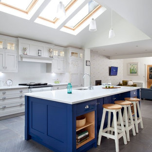 Design ideas for a contemporary kitchen in Belfast.