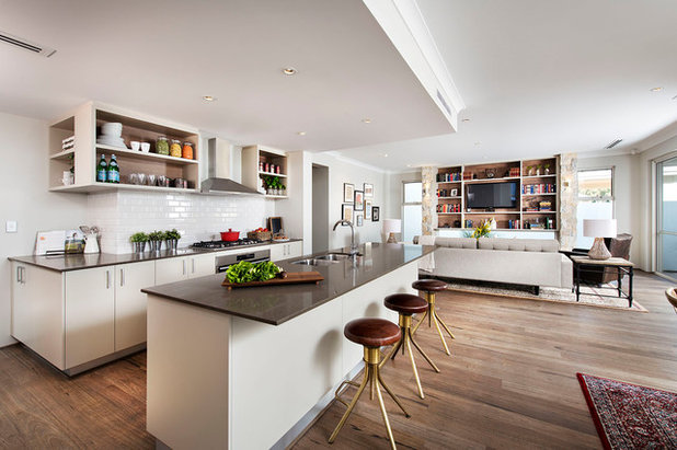 Transitional Kitchen by Webb & Brown-Neaves