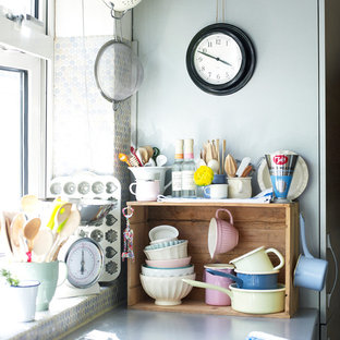 Design ideas for an eclectic kitchen in London.