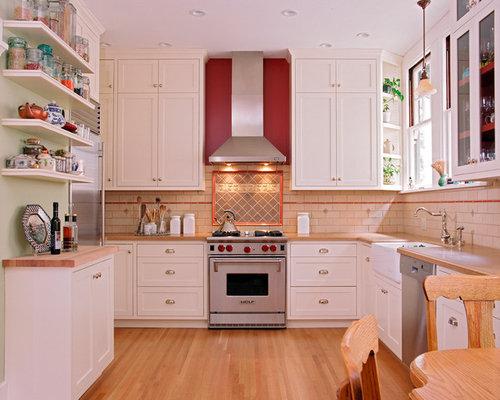 red kitchen accents   houzz