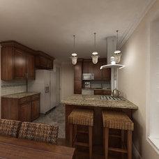Traditional Kitchen by Marie Burgos Design
