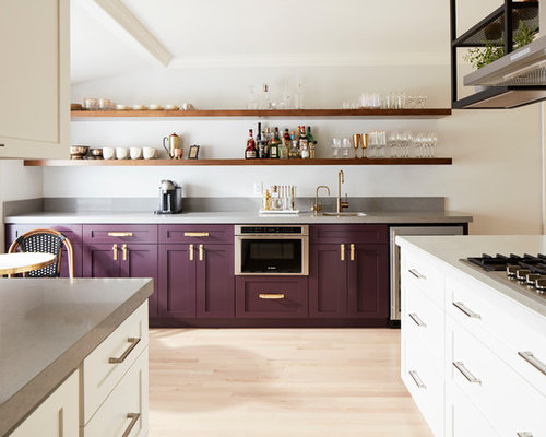 Contemporary Kitchen Inspiration   Inspiration For A Contemporary Light  Wood Floor And Beige Floor Kitchen Remodel