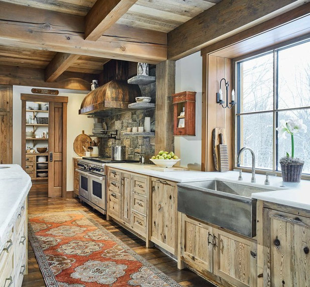 Rustic Kitchen by Cushman Design Group