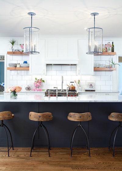 Transitional Kitchen by Elizabeth Cross-Beard
