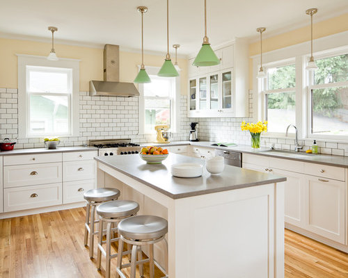 Yellow Walls White Cabinets | Houzz