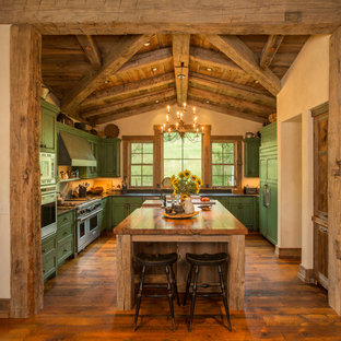 75 Most Popular Rustic Kitchen with Green Cabinets Design Ideas for 2018 - Stylish Rustic ...