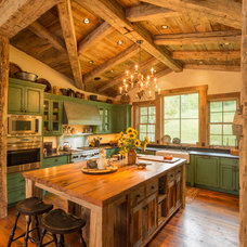 Rustic Kitchen by Lynne Barton Bier - Home on the Range Interiors