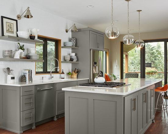 Grey And White Galley Kitchen our 25 best grey galley kitchen ideas & designs | houzz