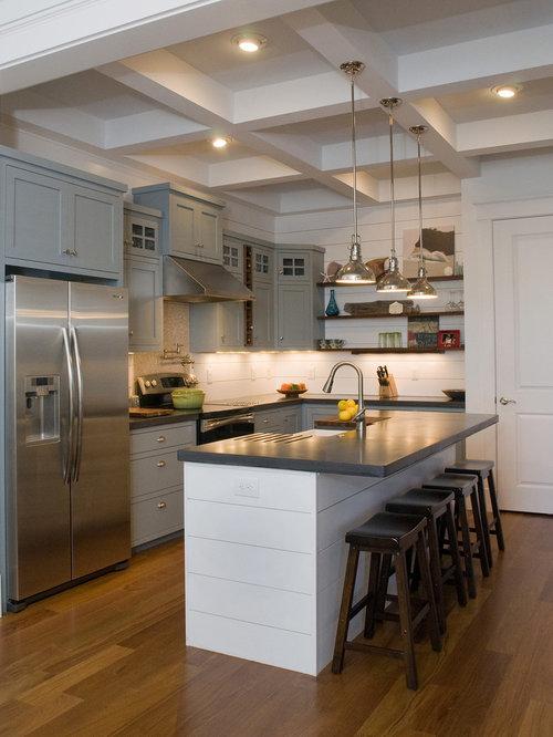 Houzz kitchen island sink design ideas remodel pictures - Kitchen island ideas with sink ...