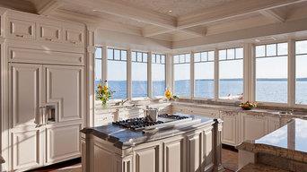 Honed Borak Granite Kitchen Island