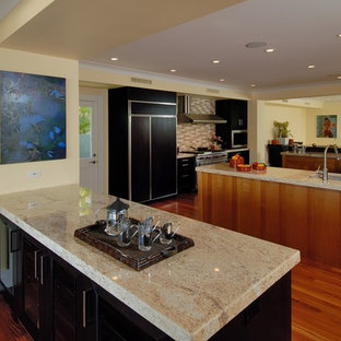 Kitchen   Contemporary Kitchen Idea In Hawaii With Granite Countertops