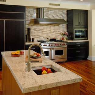Example Of A Trendy Kitchen Design In Hawaii With Stainless Steel Liances Granite Countertops